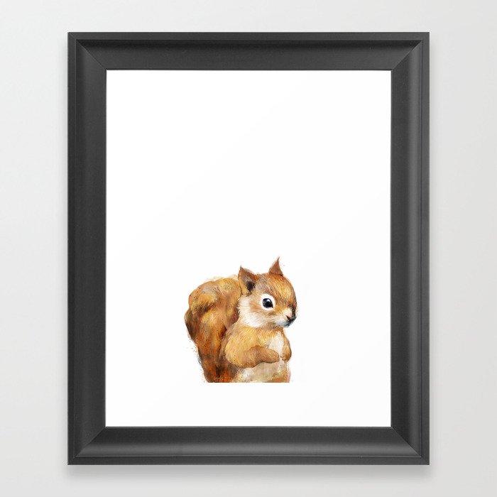 Little Squirrel Framed Art Print