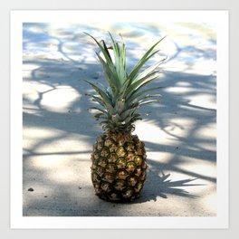 Pineapple in shadows Art Print