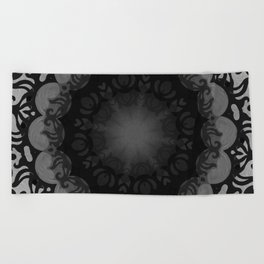 Dark Mandala #1 Beach Towel