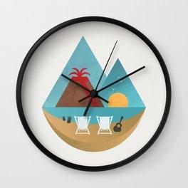 Volcano Sunset Wall Clock