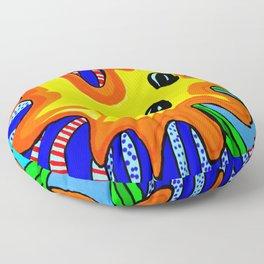 Microbes' eyes Floor Pillow