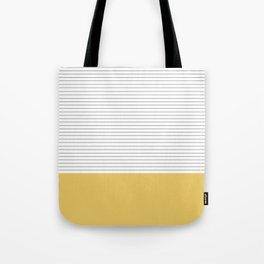 Minimal Gray Stripes - yellow Tote Bag
