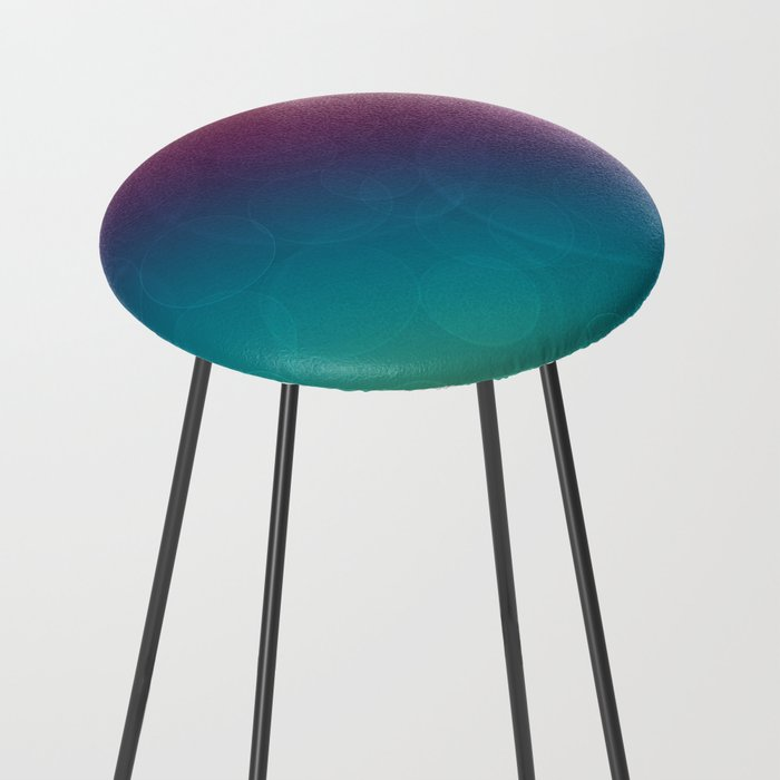 Bohek Bubbles on Rainbow of Color - Ombre multi Colored Spheres Counter Stool
