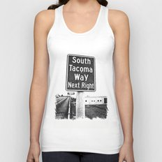South Tacoma Way exit Unisex Tank Top