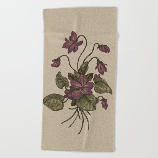 Violets Beach Towel