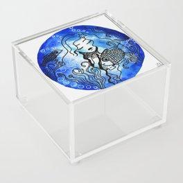 aquatique girl watercolor Acrylic Box