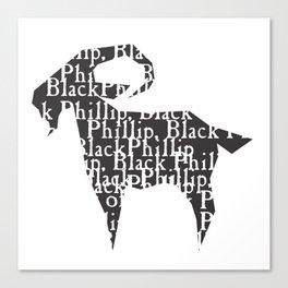 Black Philip V Canvas Print