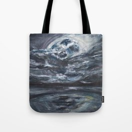 blame it on the full moon Tote Bag