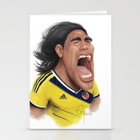colombia Stationery Cards featuring Falcao - Colombia by Sant Toscanni