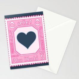Abu Dhabi Heart Stamp Stationery Cards