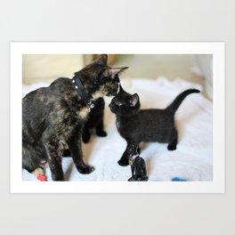 Cat family! Art Print