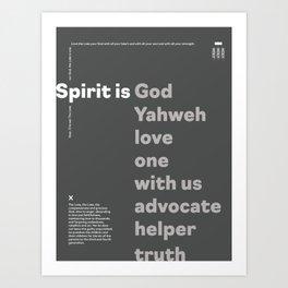 Trinity Poster Series: Spirit (3 of 3) [Dark Mode] Art Print