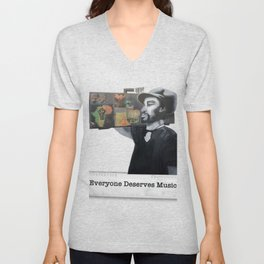 EVERYONE DESERVES MUSIC HIS WAY Unisex V-Neck