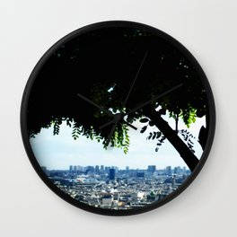 Paris behind a tree. Wall Clock