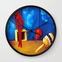 Cardinal, spin and bearing Wall Clock