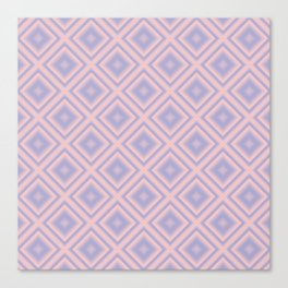 Starry Tiles in Rose Quartz and Serenity Canvas Print
