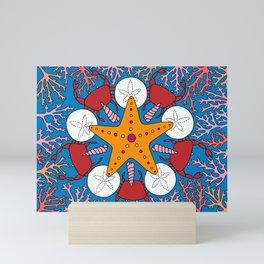 Starfish and Coral Mini Art Print