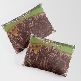 Chocolate Lettuce Pillow Sham