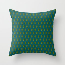 Hops Dark Cyan Pattern Throw Pillow