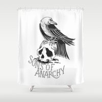 anarchy Shower Curtains featuring Sons of Anarchy  by Christiano Mere