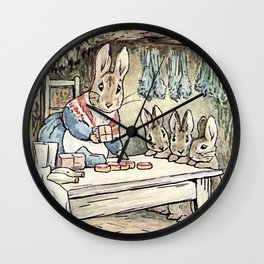 Josephine Rabbit in the Kitchen Wall Clock