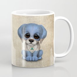 Cute Puppy Dog with flag of Nicaragua Coffee Mug