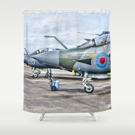 Buccaneer strike aircraft Shower Curtain
