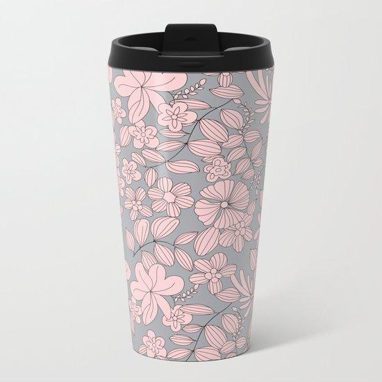 Flowers XIV Metal Travel Mug