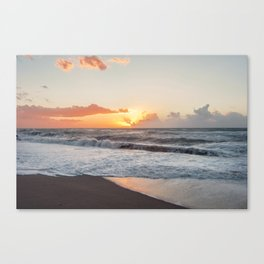 That warmth that remains in your heart after a sunset... Canvas Print