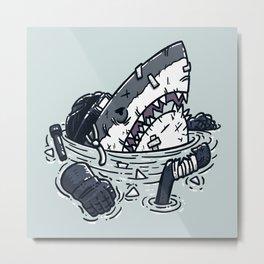 The Goon Shark Metal Print