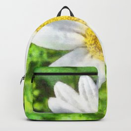 Radiant Daisy Watercolor Backpack