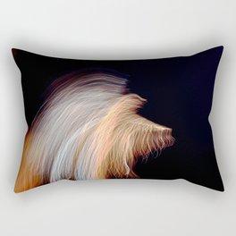Abstract Angel Ghost Rectangular Pillow