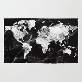 world map marble 4 Rug