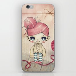 Yarnita - The Fairy who loves to knit iPhone Skin