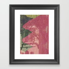 feeling pink on chapel street Framed Art Print