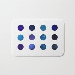 Blue Pigments Bath Mat