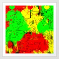 rasta Art Prints featuring Rasta by Kimberly
