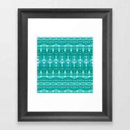 Aqua pattern Framed Art Print