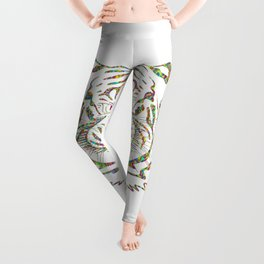 Psychedelic Colorful Tiger Leggings