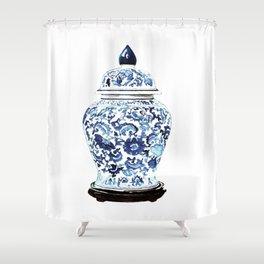 GINGER JAR NO. 4 PRINT Shower Curtain