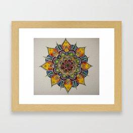 Watercolor Mandala Framed Art Print
