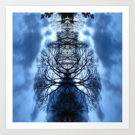 Tree Man Night photography Art Print