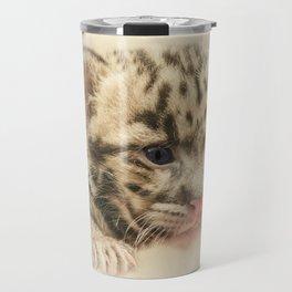 CUTE CLOUDED LEOPARD CUB Travel Mug