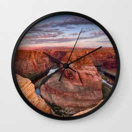 A Horseshoe Bend Morning Wall Clock