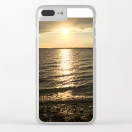 Bay Sunset Clear iPhone Case