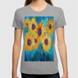 Impressionist Sunflowers Wall Decor by OLena Art T-shirt