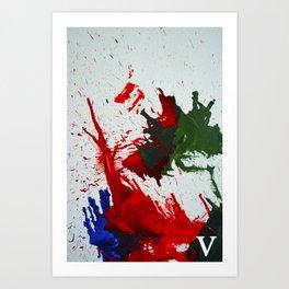 melted wax Art Print
