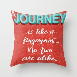 Journey Quote Throw Pillow