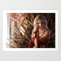 "lannister Art Prints featuring Cersei Lannister ""A Song of Ice and Fire"" ( A Game of Thrones ) by Magali Villeneuve"