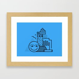 Still Life in Blue Framed Art Print